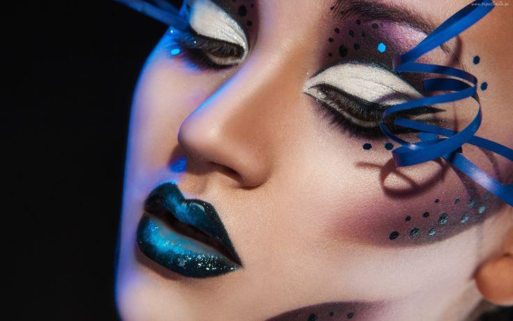 Kobieta, Makijaż, Halloween