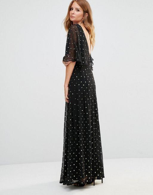 Millie Mackintosh Golden Detail Maxi Dress on ASOS.com