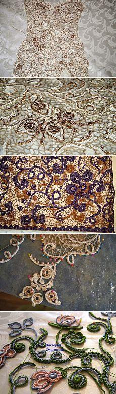 Irish crochet &: Вязаный гипюр Виктории Смоляковой