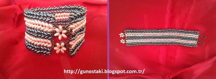 Hasır Bileklik Çalışmam 2014 Eylül 2014 Eylül Preciosa Twin Beaded Bracelet