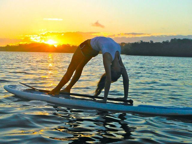 Paddleboard Yoga - by Byron Stand Up Paddle https://www.facebook.com/photo.php?fbid=479747325426402