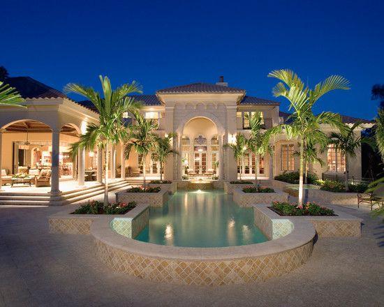 Mediterranean exterior design pictures remodel decor for Luxury outdoor living spaces