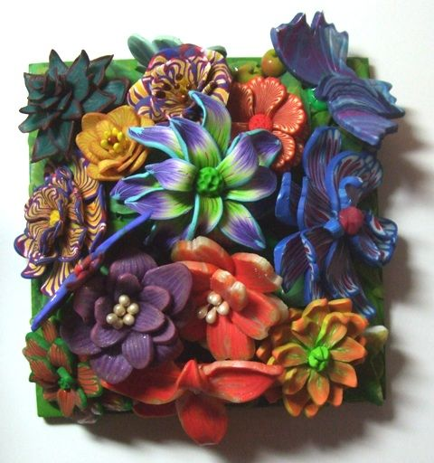 FIMO 50 World Project tile from South Polymer Clay Guild Branch (Fiona Abel-Smith), Great Britain