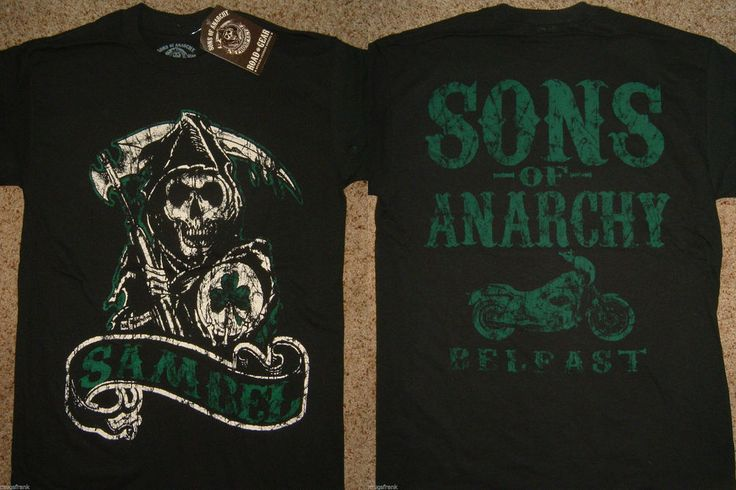 Sons of Anarchy SOA Sambel Belfast Ireland Reaper T-Shirt Nwt M Medium…
