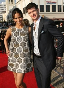 Actress Paula Patton and husband Robin Thicke (singer)  The two met in high school and have been together ever since.