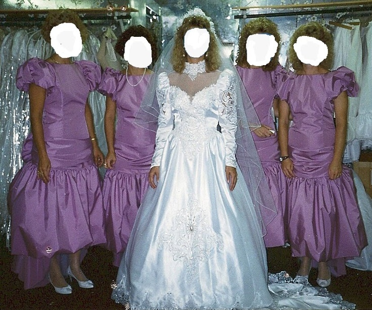 Hideous Wedding Gowns: 106 Best Images About Ugly Bridesmaid Dresses On Pinterest