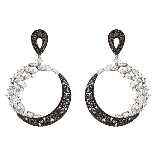 Zydo Italy Impressive Chandelier Earrings With Round Marquise