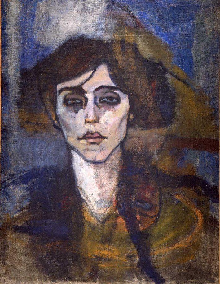 Amedeo Modigliani, 'Portrait of Maude Abrantes'. 1907. Hecht Museum, Haifa, Israel.