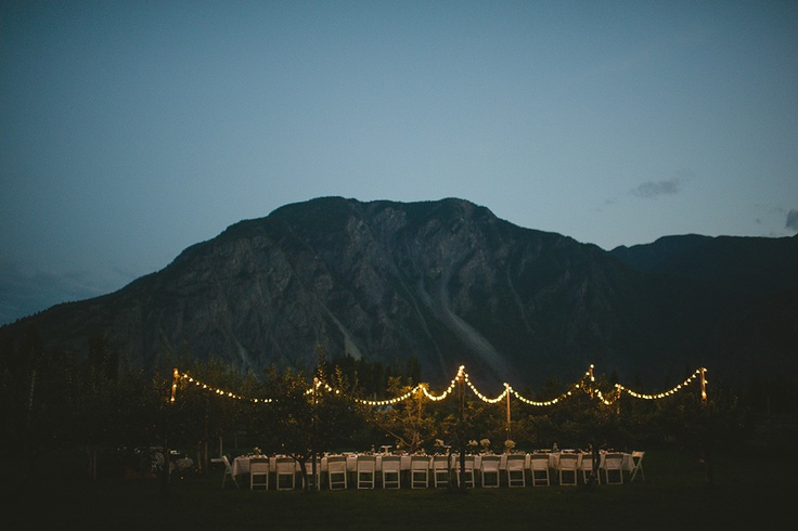 A garden wedding dinner from Keremeos in the Okanagan.    #wedding #weddingideas #DIYwedding #weddingphotography