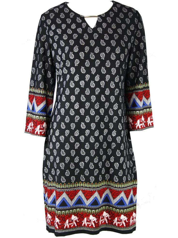 Ruas Paisley Shift Dress - Dressxox