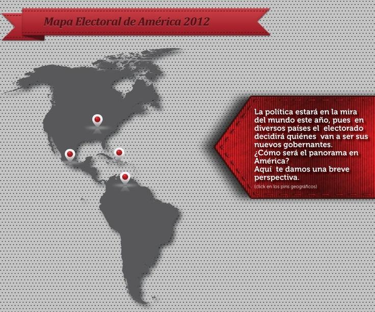 Mapa electoral de América 2012   :::: Infografías Azteca Noticias::::::