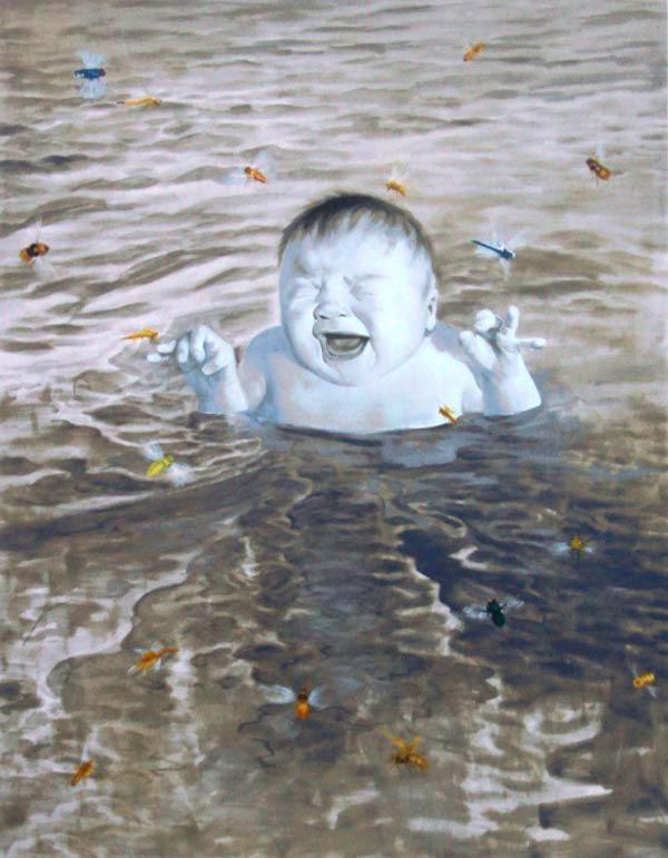 2007.4.6 by Fang Lijun Silkscreen,48x62cm Editions of 100