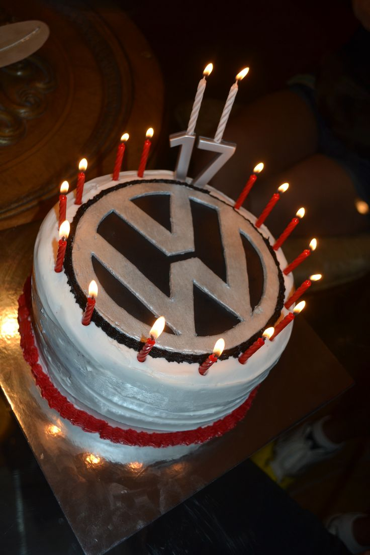 Proud of the VW logo cake for a 17th bday cake!