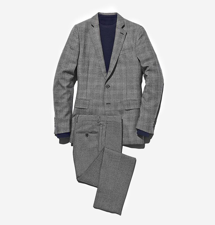 Grey Check Slim Broken Suit