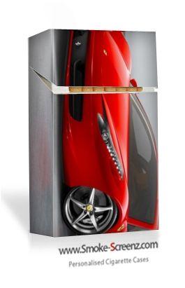A Ferrari on a Smoke Screenz personally designed cigarette case www.smoke-screenz.com