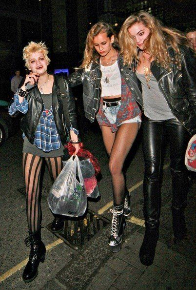 Grunge fashion was inspired by rock music combining punk with inexpensive fabrics. This was a popular fashion style in the 1990s.