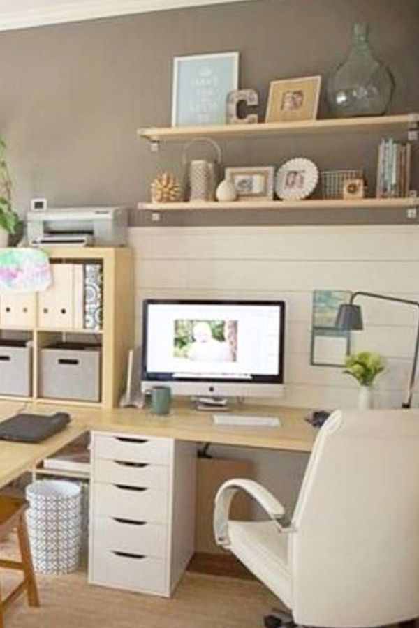Home Office Ideas For Women On A Budget Who Want An Organized Feminine Workspace At Home Home Office Design Home Office Small Home Offices