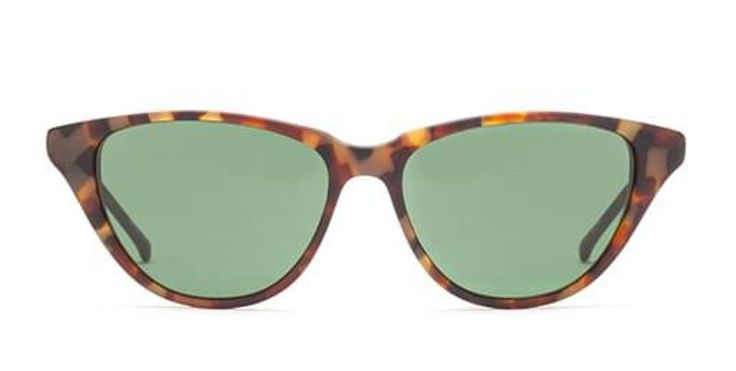 OH JACKIE I In memory of Mrs K. An easy to wear cat-eye shape with a modern touch.  Classic mid havana. Brown lens.