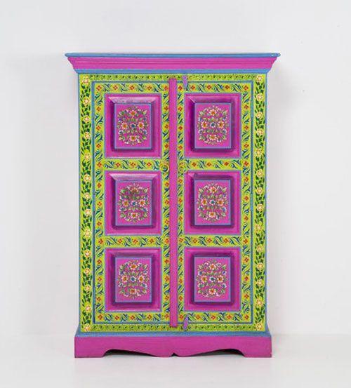 Kinderzimmer Tapeten Monster High : Colorful Painted Furniture