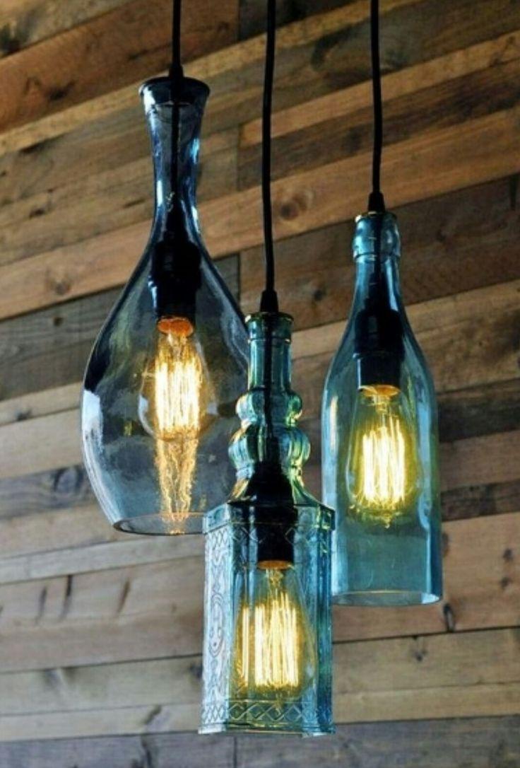 Hanging bottle lights