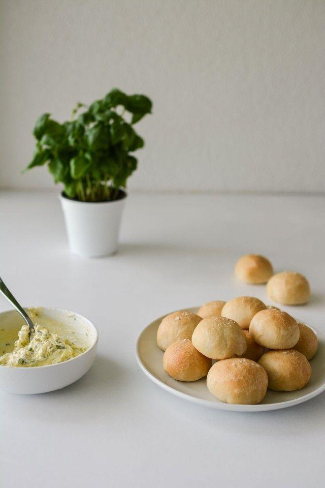 Doughballs with Homemade Garlic Butter   Lauren Caris Cooks