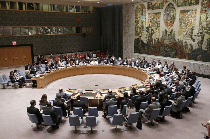 Foto: Evan Schneider / UN Photo 10/07/2014- Nova York- Estados Unidos-Visão ampla da reunião do Conselho de Segurança sobre a crise atual na Faixa de Gaza.