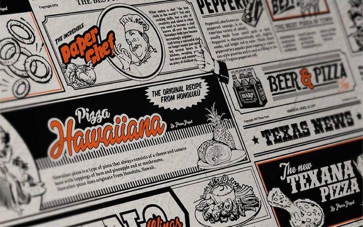 Desarrollo de identidad gráfica para Pizza Papel. un restaurante de pizzas ubicado en la ciudad de Guadalajara, México.
