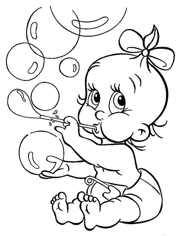 Babies Make Bubbles Coloring Pages Coloring Pages Baby Coloring