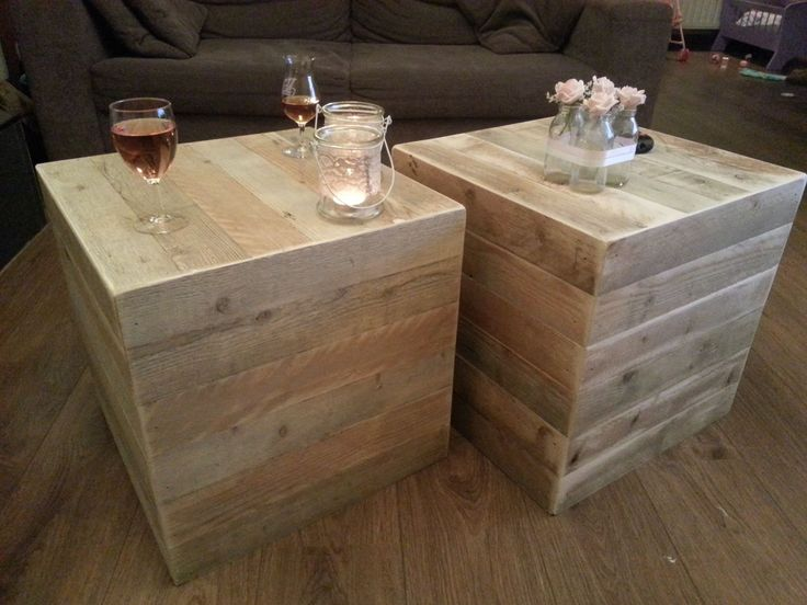 1000 images about woonideeen on pinterest paint colors for Steigerhout salontafel