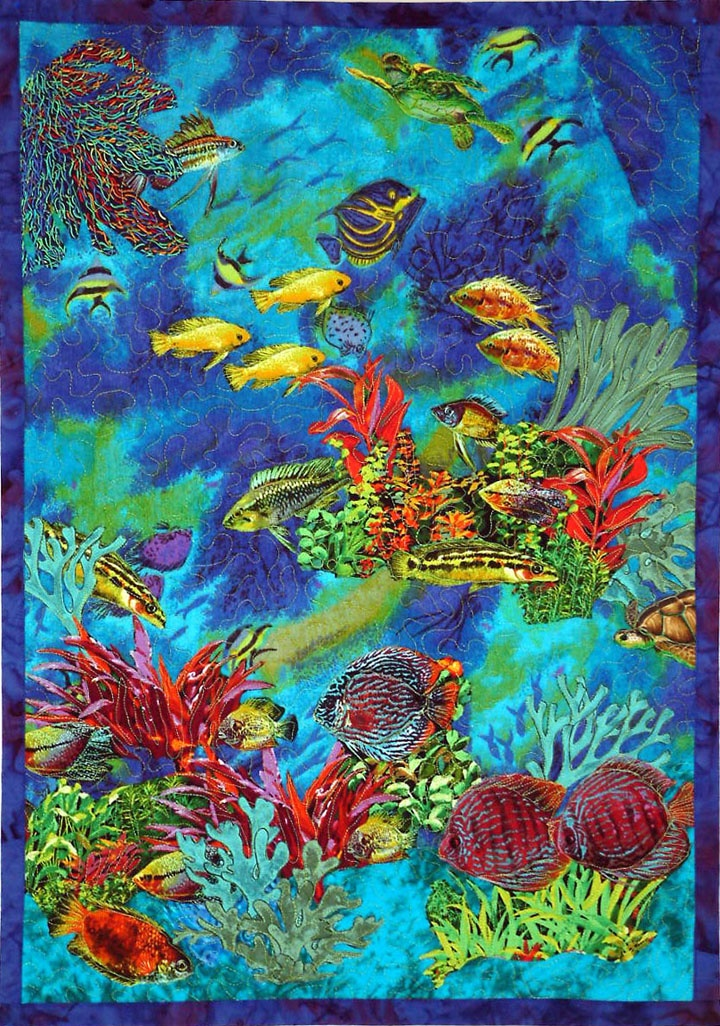 11 best images about see kwilt on pinterest quilt for Fish fabric for quilting