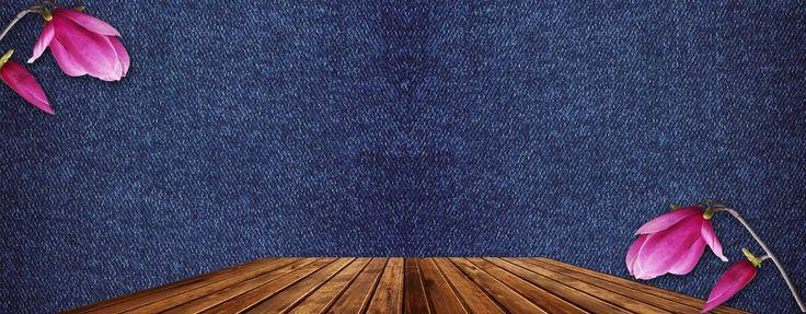 Denim,A Textura,O pano de Fundo,Madeira,Taobao vendas,Poster,Banner,Magnolia,A atmosfera,海报banner,blue