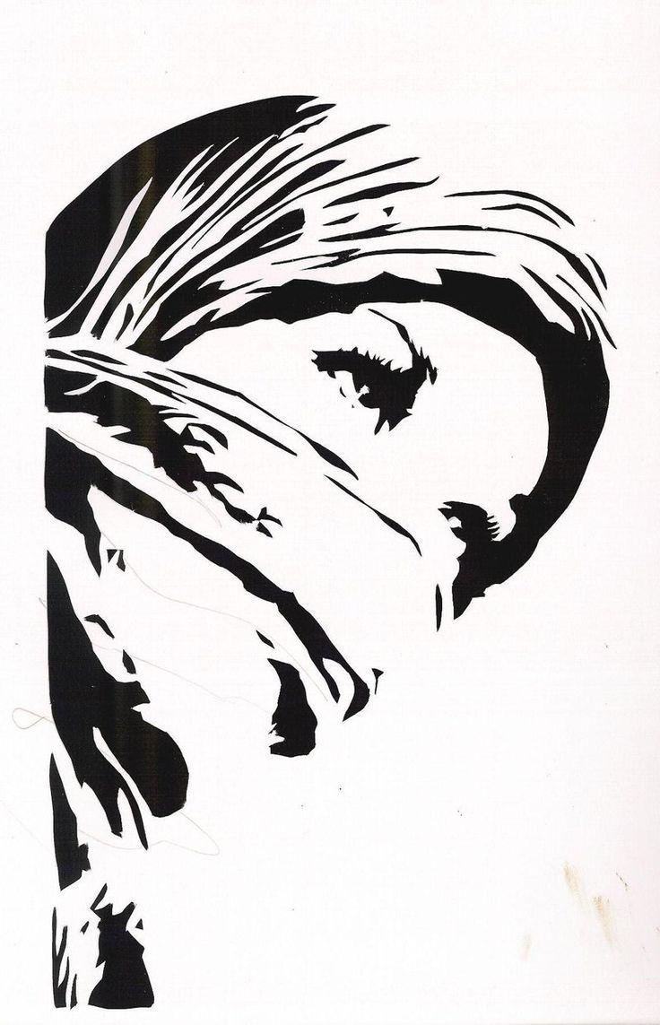 Hijab Girl Stencil by ~HeartThrobTawd on deviantART