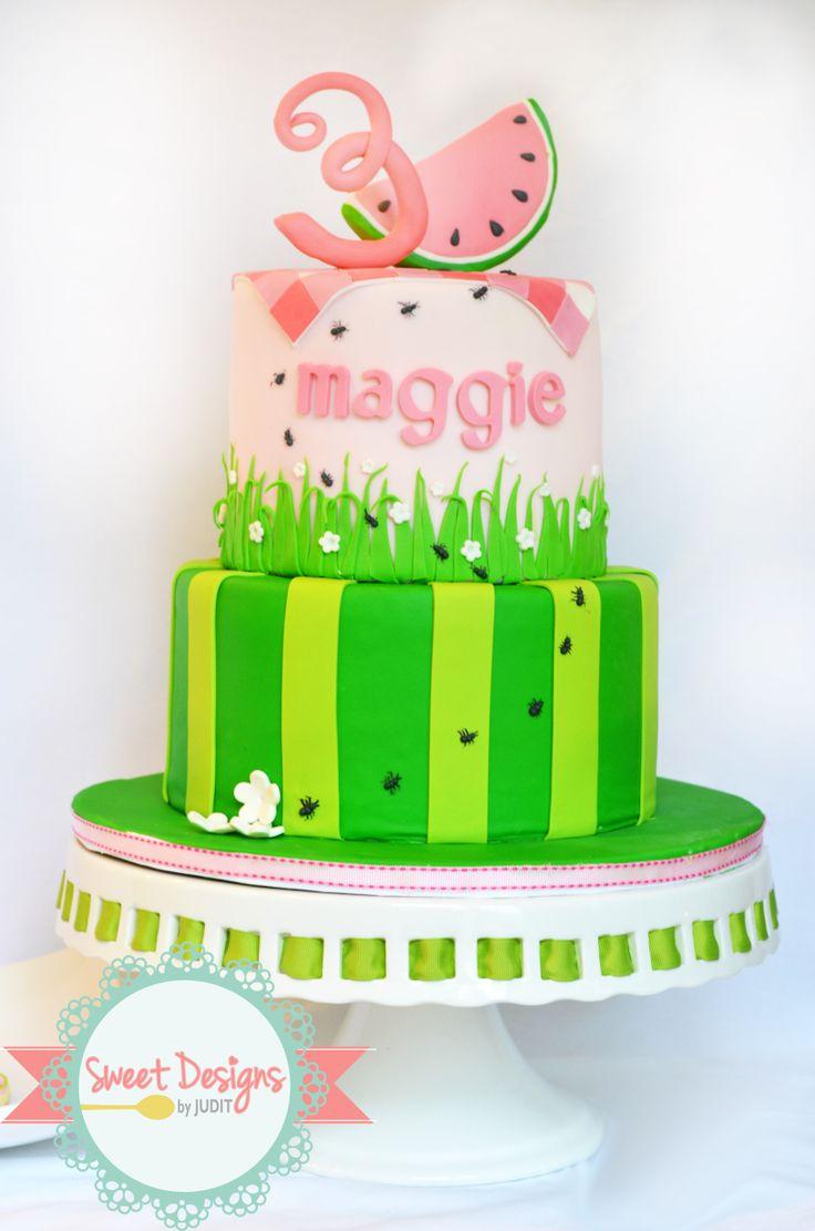 - Watermelon LMF fondant  birthday cake
