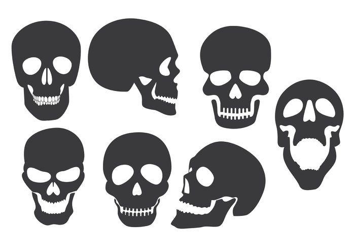 die besten 25 skull silhouette ideen auf pinterest. Black Bedroom Furniture Sets. Home Design Ideas