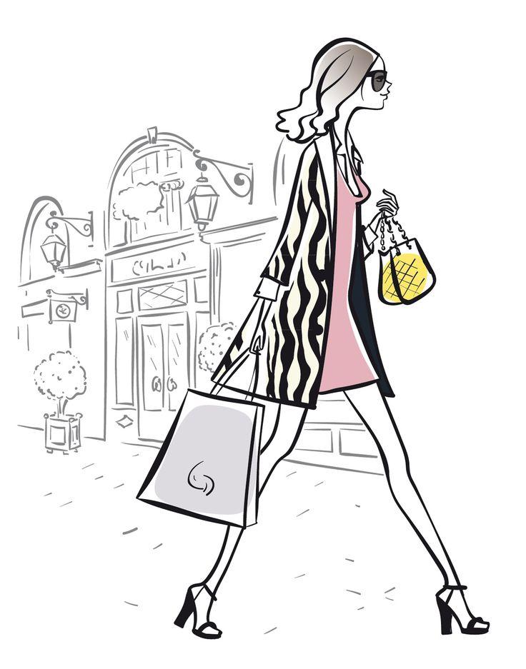 75 best illustration images on pinterest a paris - Dessin parisienne ...