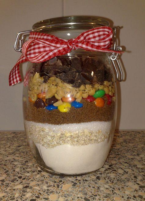 Chocolade koekjes uit een pot