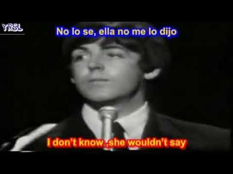 ▶ The Beatles - Yesterday ( SUBTITULADA ESPAÑOL INGLES ) - YouTube