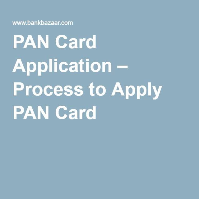 PAN Card Application – Process to Apply PAN Card
