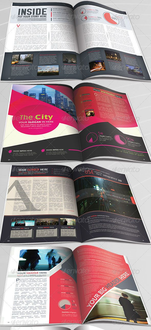 magazine layout template newsletter 10 Beautiful Magazine Layout Templates for Indesign