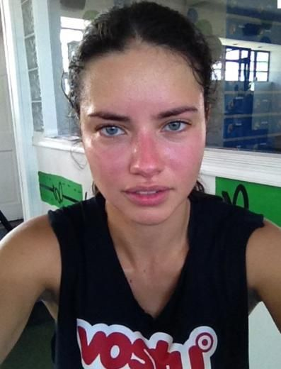 "To stop comparing people to cartoons in magazines. Here is Adriana lima no make up no photoshop, beautifully human! Women should share more of these images with each other, and put them on their wallpaper instead of posting severely disfigured images of skinny ""people"" everywhere to make themselves feel bad enough about their body to work out."