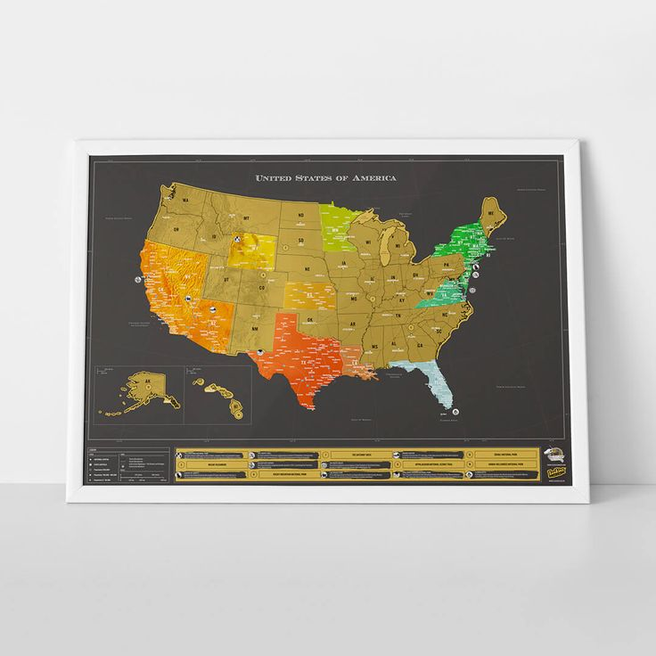 Scratch Map USA Deluxe Edition Luckies