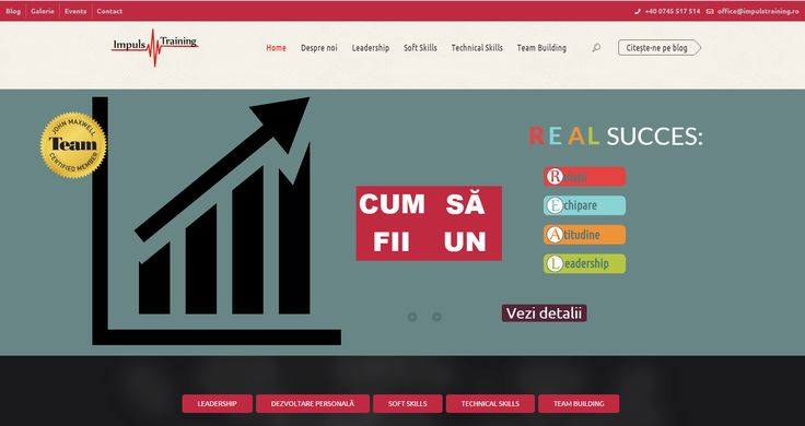 Our team designed the website for Impuls Training Company http://impulstraining.ro/