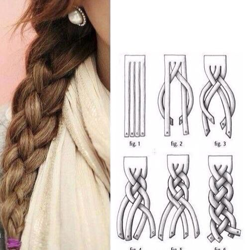 Tresse a 4 branches