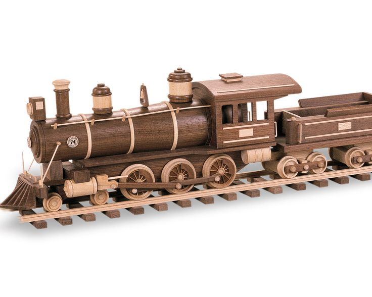 164 best wooden toy trains images on pinterest wood toys for Wooden locomotive plans