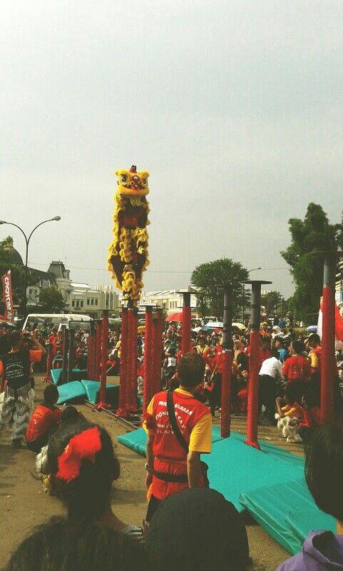 Barongsay acrobatic #indonesia #chinatown #imlek2565 #theyearofthehorse