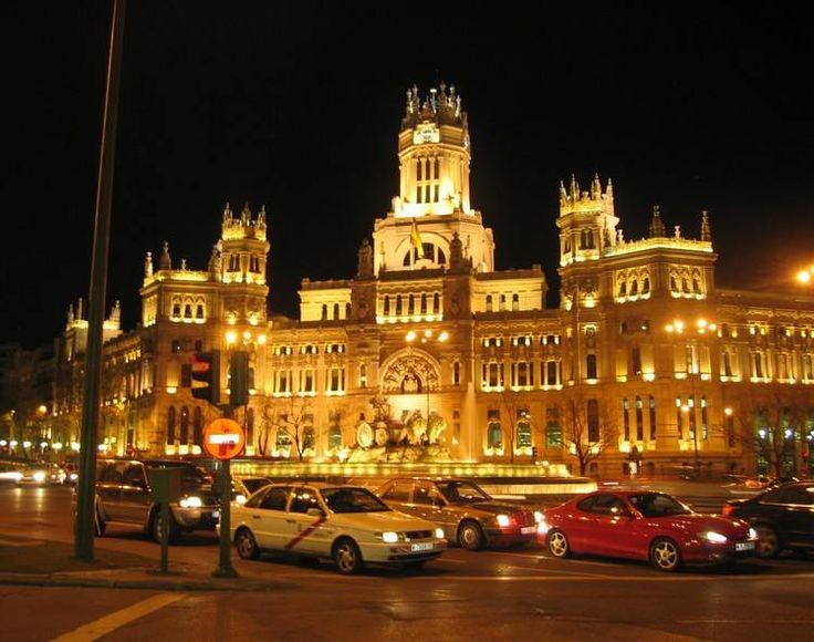 Alcaldía y fuente de La Cibeles.Madrid