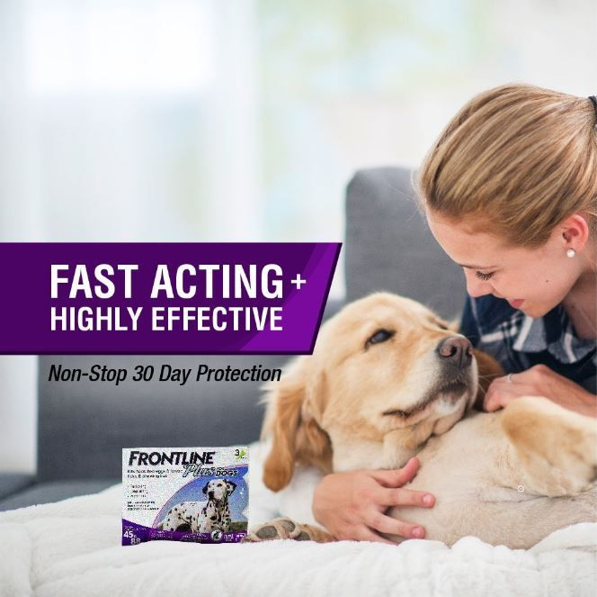 not a fabric Imported Flea, flea egg, lice, and tick control for dogs and puppies 3-dose supply provides flea, flea egg, chewing lice, and tick relief for up to 3 months For all 45 to 88-pound dogs aged 8 weeks and older Easy 3-step application process Packaging may vary