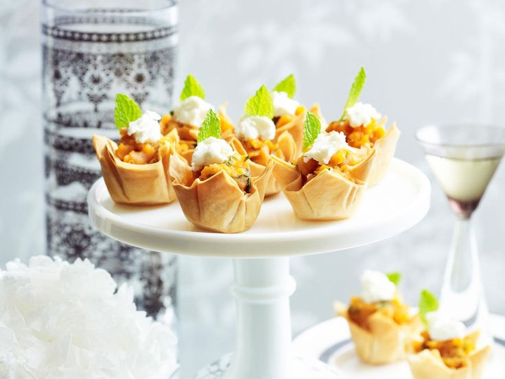 These goat's cheese, mint and kumara mash tartlets are a delicious and easy savory appetiser to serve family and friends at Christmas.