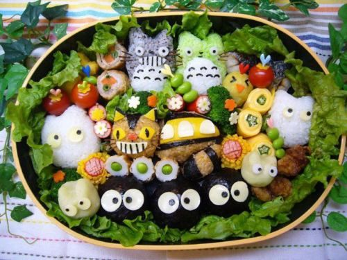 Awesome Totoro character bento