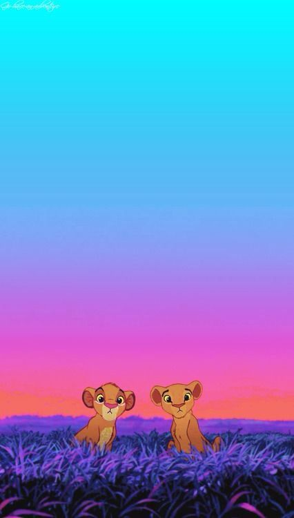 simba and nala loving iphone wallpaper disney